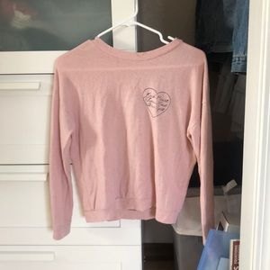pink sweater from Wet Seal